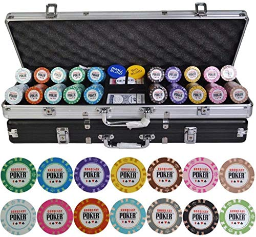 Juego de fichas de póker Casino Crown Poker Poker Fichas Set 100/200/300/400 / 500pcs / Set Texas Hold'em Baccarat Fichas con la Maleta de Aluminio y un paño de Mesa (Color: 400pcs Silver Box)
