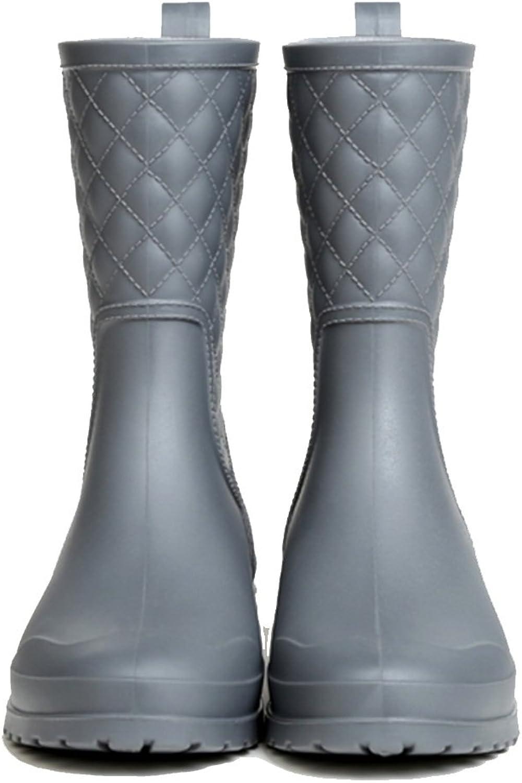 NAN Sommer Regen Stiefel Frauen Hohe Regen Stiefel Gummi Regen Stiefel Mode Wasserdichte Gummistiefel (Farbe   01, größe   EU35 UK3 CN34)  | Niedriger Preis  | Qualität  | Starke Hitze- und Abnutzungsbeständigkeit