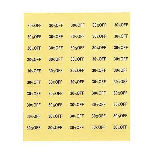 【250枚】台紙用シール イベントシール 10×5mm アクセサリー台紙用 日本製 (30%OFF・透明, 250枚)