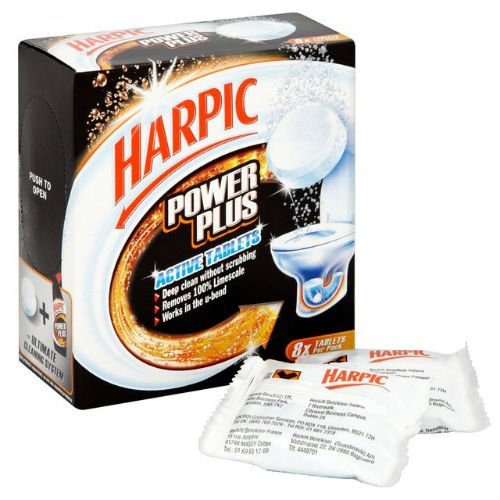 Power Plus Harpic tablettes de nettoyage WC 8 x 25 g, Etui de 4.