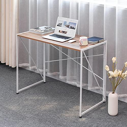 mesa plegable YNN Mesa De Estudio Portátil Plegable del Escritorio De Computadora para La Oficina del Hogar, Escritorio De Escritorio Sin Montaje para Espacios Pequeños(Color:Mesa)