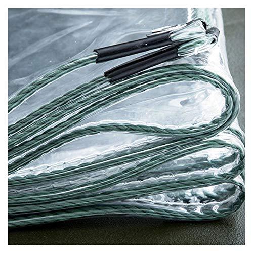 GYYARSX Lonas Transparente Lona Alquitranada Lona De Aislamiento De PVC Transparente Gruesa, Cubierta De Plástico De Protección contra El Frío De Ventana De Balcón Plegable, 32 Tamaños