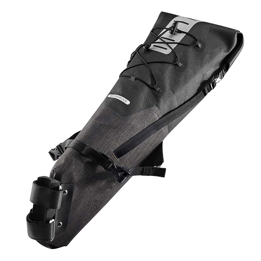 ピーブ一元化するスプレーストライプの反射装置に乗って自転車サドル バッグ、防水バイク パック大容量リアエアー シート バッグ