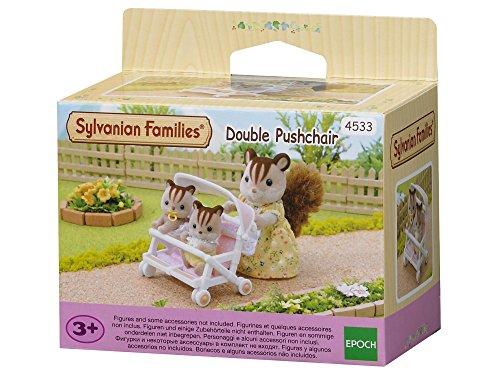 Sylvanian Families 4533 Zwillingskinderwagen - Puppenhaus Puppen Zubehör