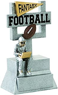 Decade Awards Fantasy Football Silver Goal Post Trophy - FFL Gridiron Award - 7 Inch Tall - Engraved Plate on Request