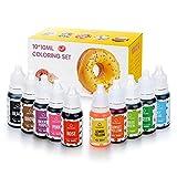 Wayin Backen Farbe 10x10ml Schöne Farben Colouring Set Hochkonzentriert Flüssig Farbe Set...