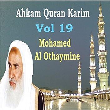Ahkam Quran Karim Vol 19 (Quran)