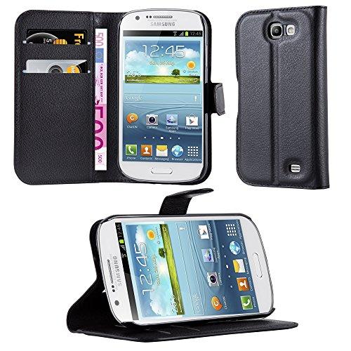 Cadorabo Custodia compatibile con Samsung Galaxy Express 1 custodia Phantom Nero Custodia per cellulare con porta carte di credito e funzione di supporto