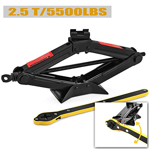 Find Bargain CPROSP Scissor Jack for car/SUV/MPV max 2.5 Tons/5,500lbs Capacity with Hand Crank Trol...