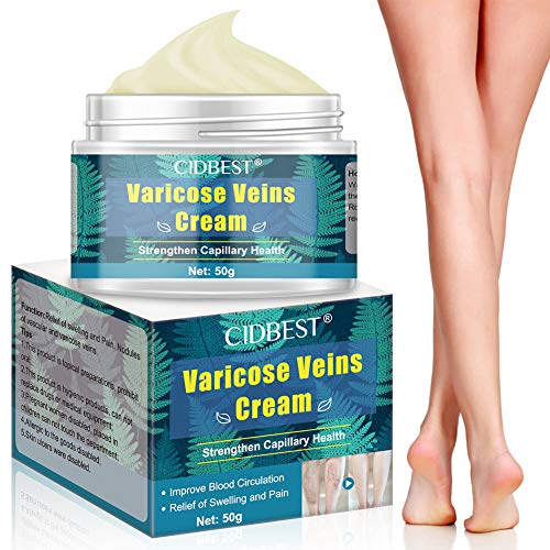 Varicose Veins Cream, Soothing Leg Cream, Natural Varicose &Spider Vein Treatment for Legs, Improve Blood Circulation, Tired and Heavy Legs Fast Relie 1.7oz
