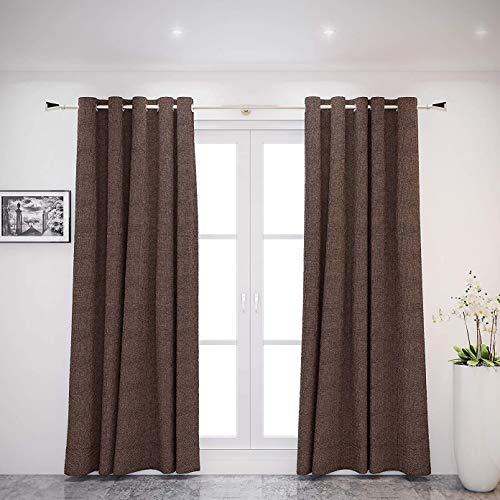 """GCurtain Window Treatment 52 inch Wide with 8 Grommets Linen Blackout Window Curtains/Panels/Drapes, Set, Shower Rod, Curtain rods, Walmart, Home Depot, Door, Target, Curtain Rod,of 1 Panel (52""""x96"""")"""