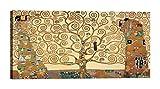 Lux Cuadro sobre lienzo con marco Gustav Klimt - El árbol de la vida 100 x 50 cm