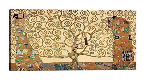 luxhomedecor - Cuadro sobre Lienzo con Marco Gustav Klimt - El árbol de la Vida