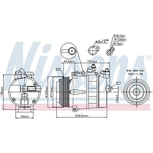 Nissens 89022 Clima compressori