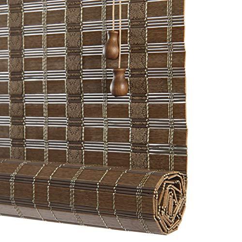 LXF Rollo, 75 cm / 95 cm / 135 cm breit, zum Aufrollen, für Fenster zu Hause und im Büro, Raumverdunkelung (Größe: 115 x 195 cm)