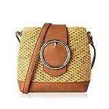 Straw Crossbody Bags for Women Woven Cross Body Bag Shoulder Satchel (One, Caramel)