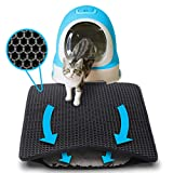 Focuspet Cat Litter Mat, Kitty Litter Mat Double-Layer Litter Trapper Mat Large Waterproof