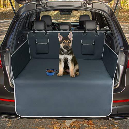 Toozey Kofferraumschutz Hund mit Seitenschutz - Universal Auto Kofferraum Hundedecke - Robuste Schutzmatte für Hunde, Grau