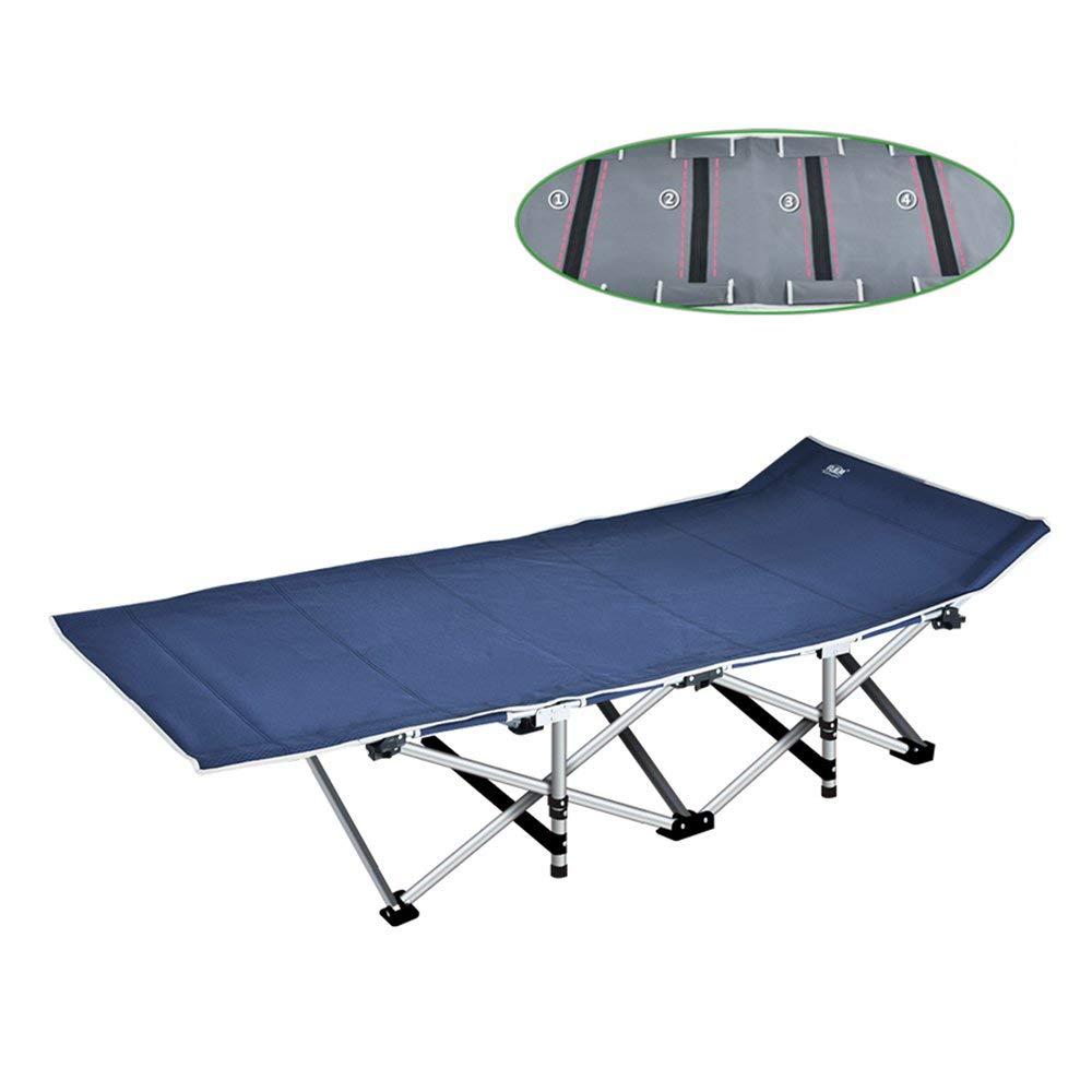 soges Lit Simple Pliant 190CM*67CM*34CM Bain de Soleil Transat de Jardin de Camping inclinable avec Sacoche /& Oreiller,Marinebleu