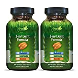Irwin Naturals 3-in-1 Joint Formula - Powerul Joint Support Supplement with Glucosamine, Chondroitin, Turmeric & Boswellia - 90 Liquid Softgels (Pack of 2)