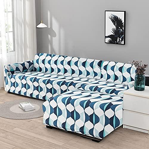 WXQY Funda de sofá de Esquina Funda de sofá elástica para Sala de Estar, Funda de sillón sofá sombreado sofá Todo Incluido Funda de sofá A1 4 plazas
