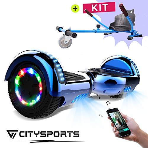 CITYSPORTS Balance Board 6,5 Zoll, Elektro Skateboard Smart Scooter 2x350W mit LED,E-Scooter + HOVERKART (Hover-15)