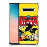 Officiel Batman DC Comics Détective de première Apparition Costumes emblématiques des Bande dessinée Coque Noir en Gel Doux Compatible avec Samsung Galaxy S10+ / S10 Plus
