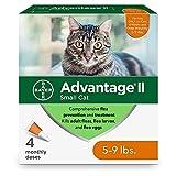 Advantage II Small Cat Flea Treatment, 4-Dose...