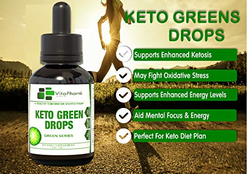 Keto Green Drops by VitaPharm Nutrition | Advanced Diet Drops for Men and Women | Simply Works with All Diets Including Keto (Ketogenic) to Speed Up Ketosis | Ultra High Potency 2 Fl oz 7
