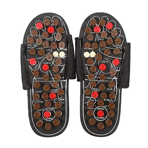 XLYYHZ Männer Akupressur Fußmassage Matte Relaxer Reflexzonenmassage Werkzeuge Roller Schmerzlinderung Gesundheit Schuhe Hausschuhe Entspannungsgeschenke verbessern die Durchblutung