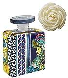 Maroc & Roll - Sicily Bottiglia Piccola DIFFUSORE Profumo Ambiente in Porcellana con Fiore di Corteccia di GELSO - SBTMIDI.B&R03