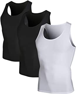 Men's 3 Pack Sleeveless Athletic Cool Dry Compression Muscle Tank Top