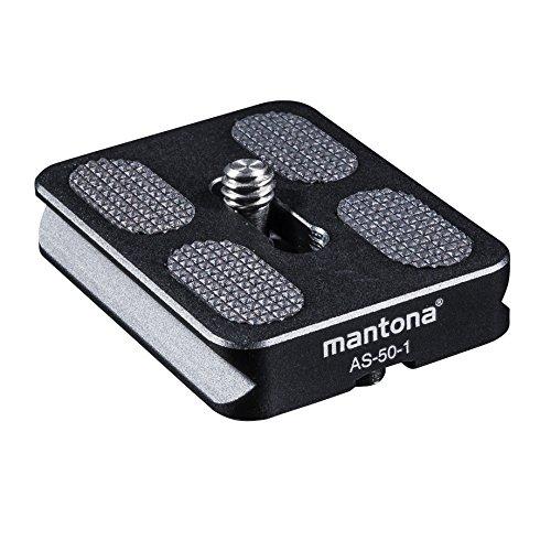 Mantona Schnellwechselplatte Arca Swiss, 50 mm schwarz