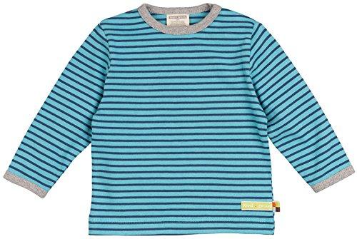 loud + proud Unisex Baby Shirt Ringel aus Bio Baumwolle, Blau (Lake La), 92 (Herstellergröße: 86/92)