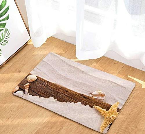 SDFJKOShells Sea Star Summer Holiday Style Rug Anti-Slip Doormat Home Decor Door Mat Floor Living Room Carpet,2275,4,400MMx600MM