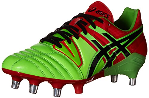 ASICS Men's Gel-Lethal Tight 5 Soccer Shoe,Flash Green/Black/Deep Orange,9 M US