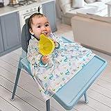 Sunix Baberos del Bebés, Babero de destete de Bebés lavable suave unisex, se adhiere a su trona, babero de alimentación ideal para niños pequeños, para bebés de 6 meses a 2 años