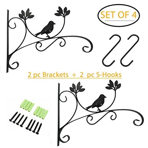 Ouvin Crochet à Suspendre pour Plantes avec Crochet en S Robuste 15,2 cm Style Vintage pour Pot d'oiseaux Lanterne Carillon à Vent Décoration 13.8\