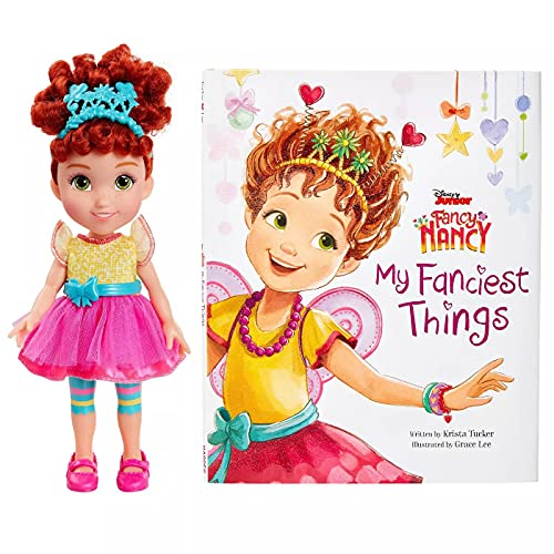 Jakks Disney Fancy Nancy Doll and Book Set Featuring 'My Fanciest Things' - Learn About All The Fancy Things in Nancy's Room - Fancy Nancy Doll Dressed In Her Signature Outfit From the Show
