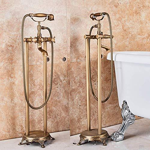 MYERZI Párese grifo Sistema de ducha grifo de bañera de latón antiguo...