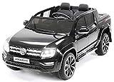 Actionbikes Motors Kinder Elektroauto Volkswagen Vw Amarok SUV - Lizenziert - 2-Sitzer - Eva Vollgummireifen - Fernbedienung - Elektro Auto für Kinder ab 3 Jahre - Kinderauto Spielzeug (Schwarz)