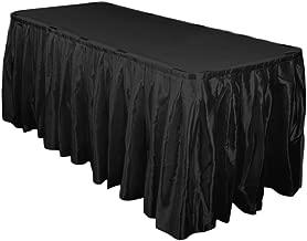 LinenTablecloth Accordion Pleat Satin Table