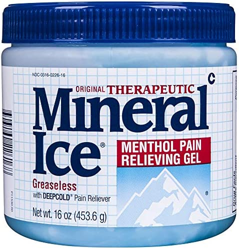 Mineral Ice Therapeutic Pain Relieving Gel, 16 Ounce