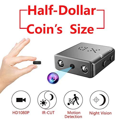 Mini Caméra Espion, Portable Full HD 1080P ZTour Cachée Espion Nanny avec Vision Nocturne et Détection de Mouvement pour Caméra de Surveillance de Sécurité Micro Intérieure/Extérieure