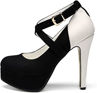 getmorebeauty Womens Vintage Platform High Heels Dress Pump Shoes