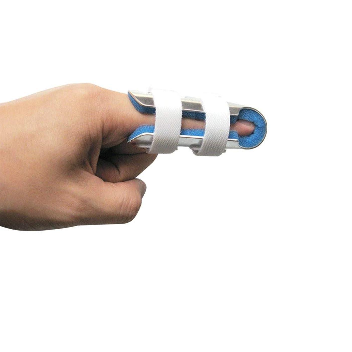 大使館枠にんじん指の関節固定用の柔らかいフォームの内部ループストラップと保護穴を備えた指の副木大人と子供,S