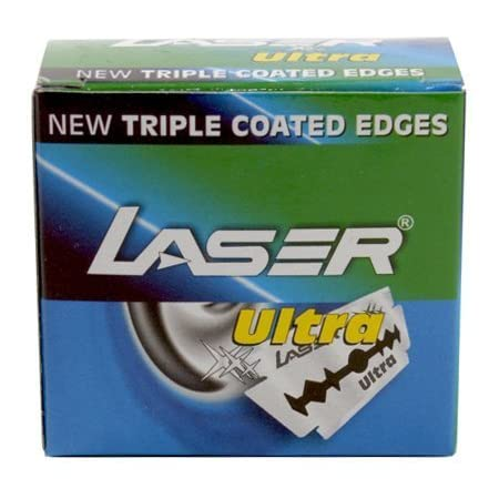 laser shaving Ultra Double Edge Safety Razor Blades with Triple Coated Edges -Set of 50 Pieces