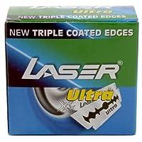 Laser Shaving 50のレーザーウルトラダブルエッジ安全かみそりの刃トリプルコートエッジ!