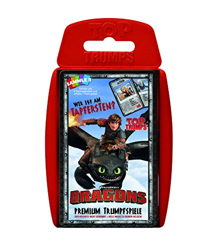 Top Trumps - Dragons Kartenspiel mit Hicks, Ohnezahn & Co.