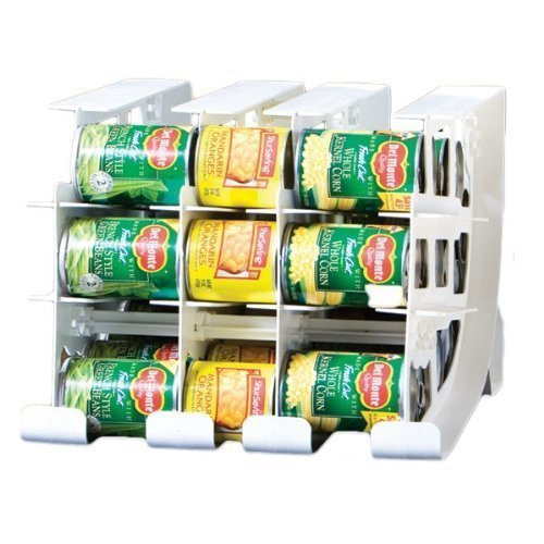 FIFO Can Tracker  Stores 54 cans  Rotates First in First Out  Canned Goods Organizer for Cupboard Pantry and Cabinet  Food Storage  Organize Your Kitchen  Made in USA